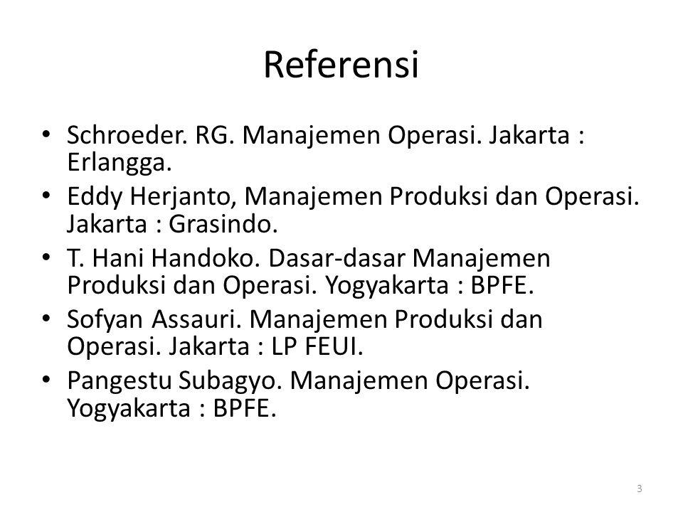Bab 1.Pendahuluan Manajemen operasi berkaitan dengan produksi barang dan jasa.
