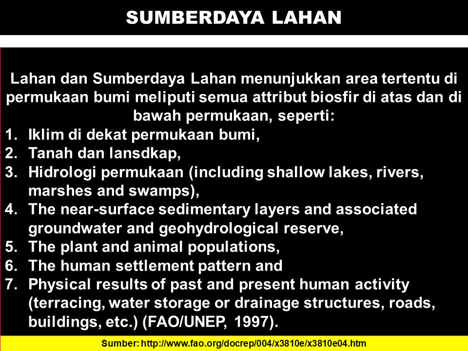 KEMAMPUAN LAHAN Land capability classification is - according to the USDA terminology - a system of grouping soils primarily on the basis of their capability to produce common cultivated crops and pasture plants without deteriorating over a long period.