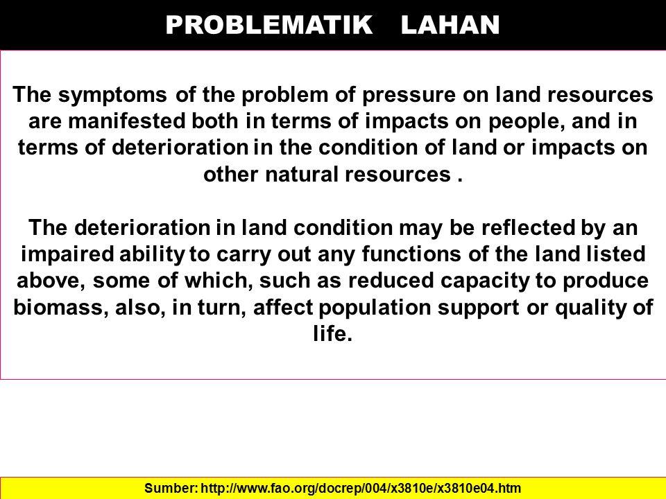 Kelas VIII Memiliki faktor pembatas yang berat Tidak sesuai untuk segala bentuk tanaman pertanian, padang rumput atau hutan produksi Hanya sesuai untuk kasawan perlindung DAS (Hutan Lindung)