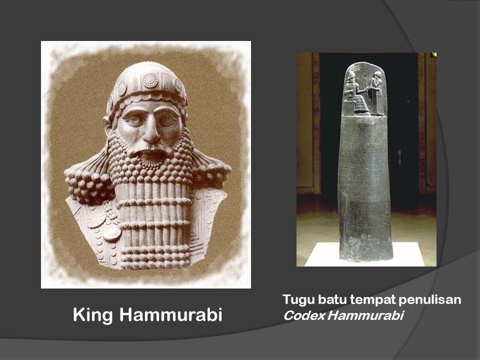 King Hammurabi Tugu batu tempat penulisan Codex Hammurabi