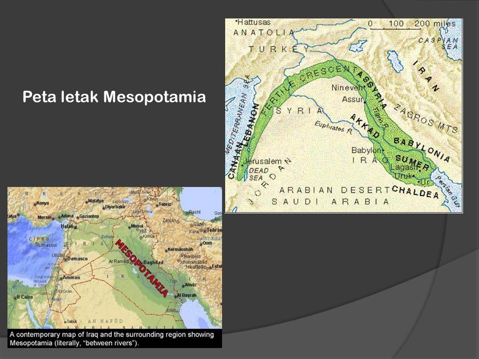 Peta letak Mesopotamia