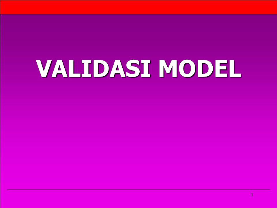 1 VALIDASI MODEL