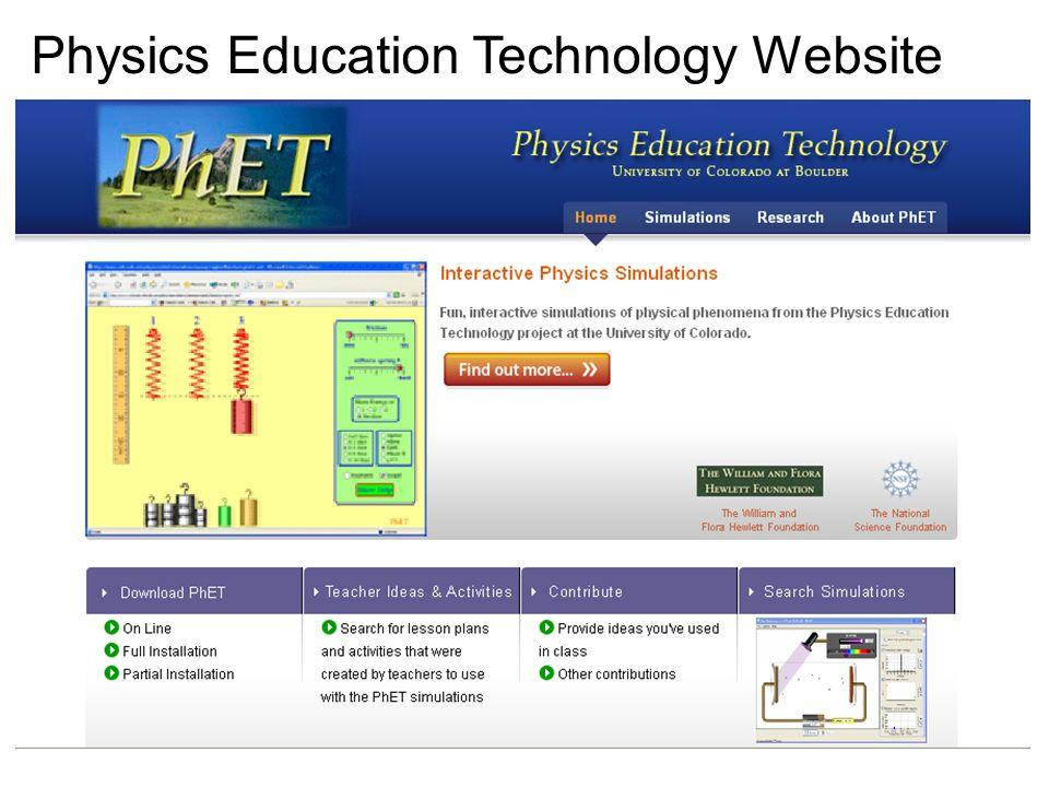 Where is PhET? http://phet.colorado.edu Or download! (  400 MB)