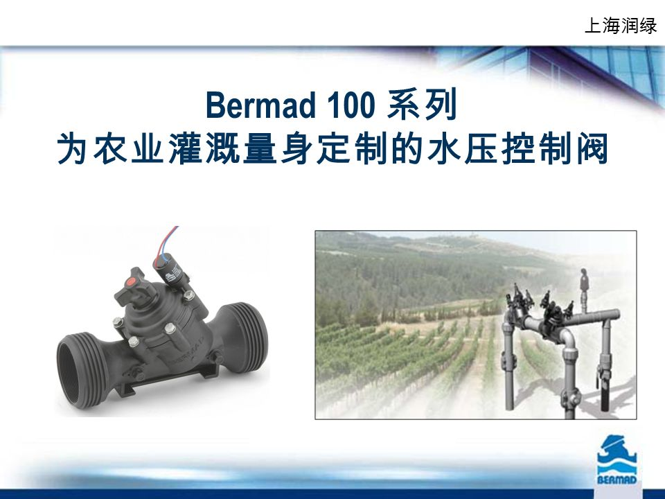 Bermad 100 系列 为农业灌溉量身定制的水压控制阀 上海润绿
