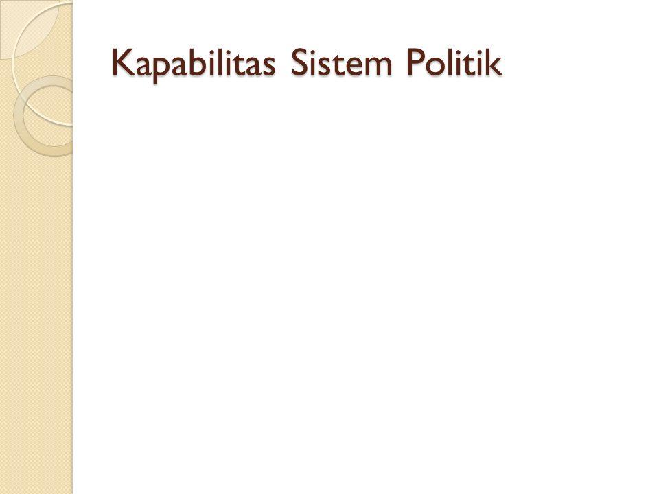 Kapabilitas Sistem Politik