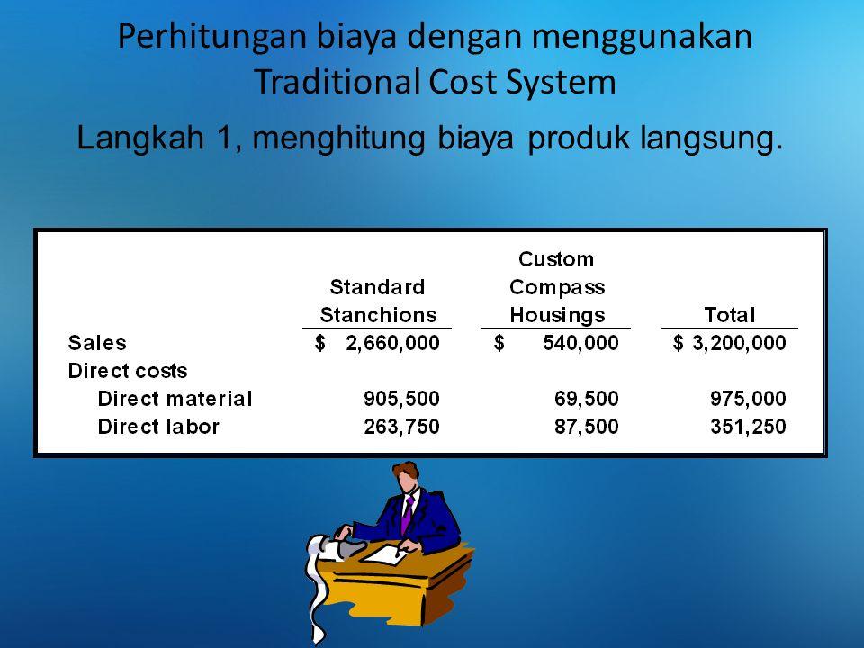 Menghitung total biaya overhead berdasarkan Traditional Cost System Plantwide manufacturing overhead rate $1,000,000 20,000 MH = $50 per machine-hour= Menghitung tarip BOP, dan alokasi ke tiap2 produk