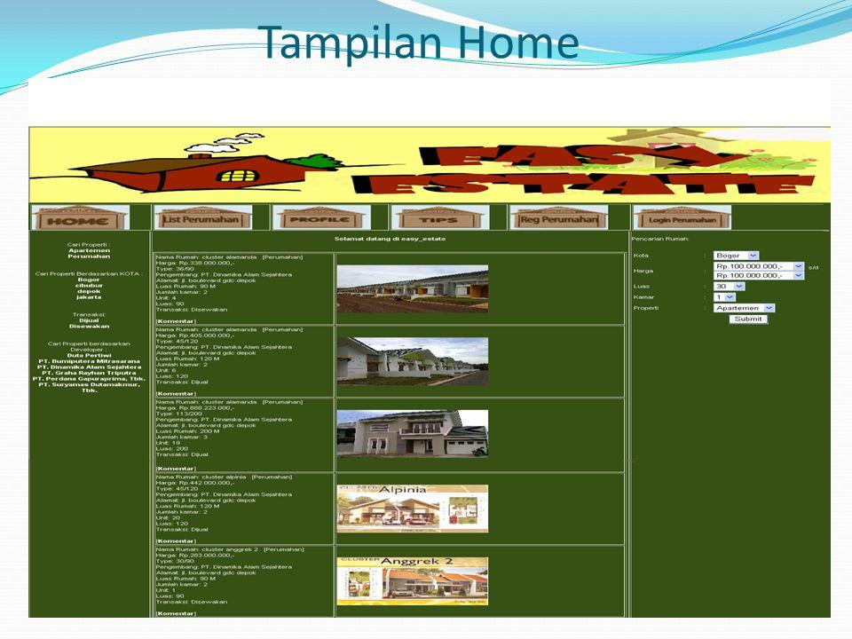 Tampilan Home