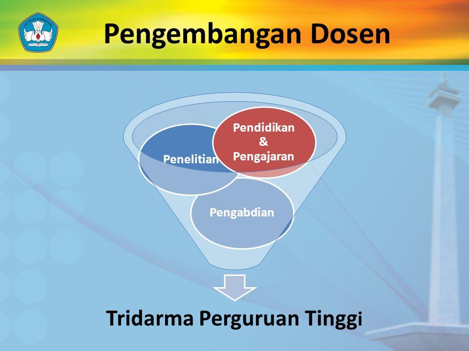Pengembangan Dosen Tridarma Perguruan Tingg i PengabdianPenelitian Pendidikan & Pengajaran