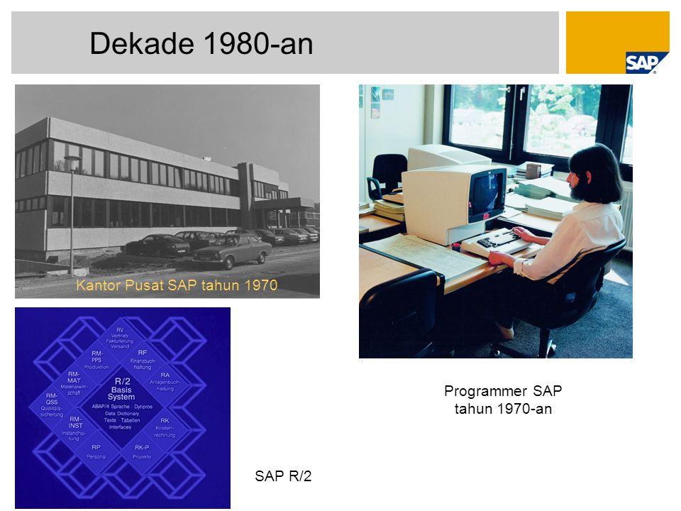 © SAP 2009 / SAP Best Practices Page 22 Dekade 1980-an Programmer SAP tahun 1970-an Kantor Pusat SAP tahun 1970 SAP R/2