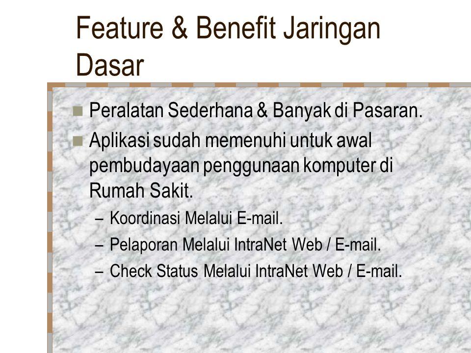 Feature & Benefit Jaringan Dasar Peralatan Sederhana & Banyak di Pasaran.