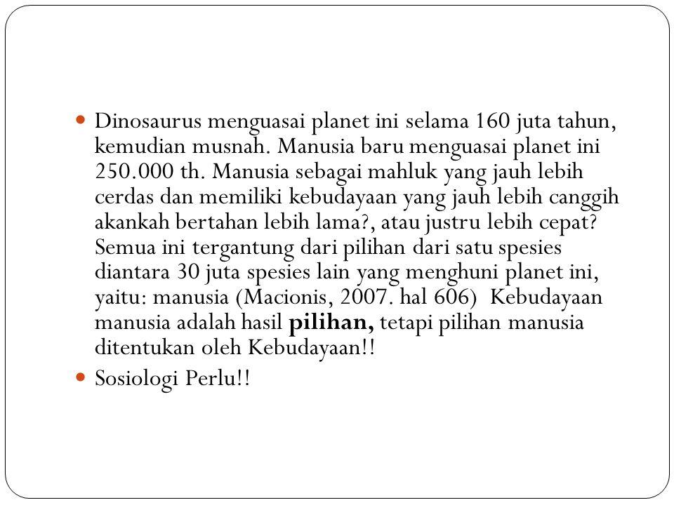 Dinosaurus menguasai planet ini selama 160 juta tahun, kemudian musnah.