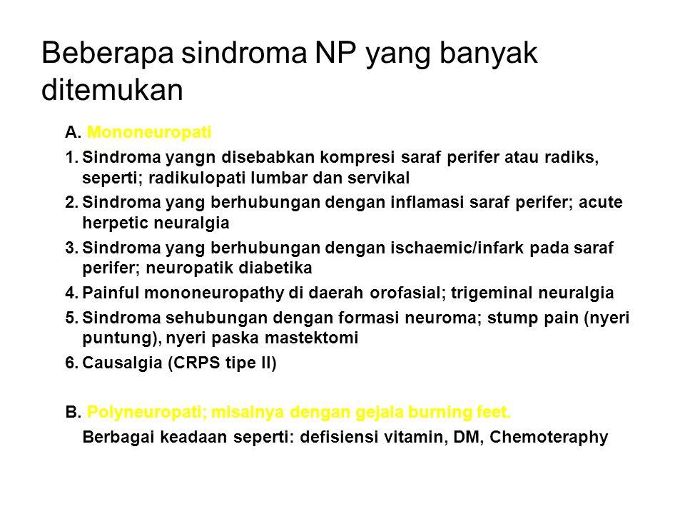 Beberapa sindroma NP yang banyak ditemukan A.