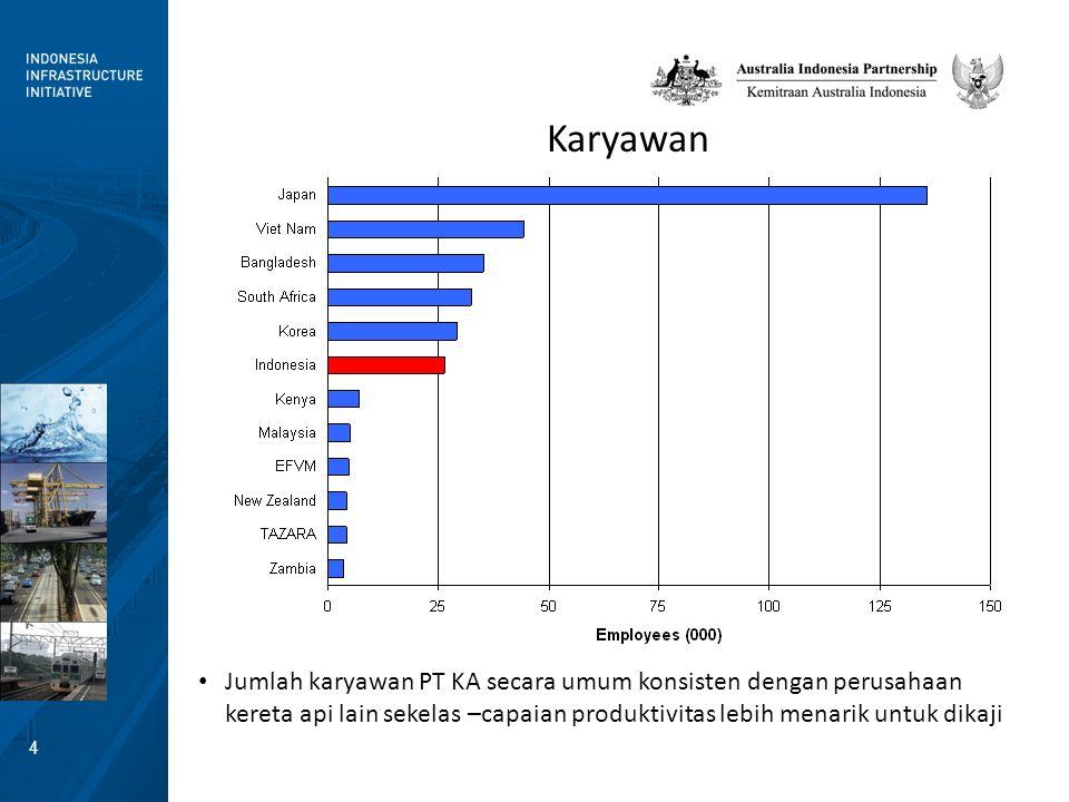 5 Work Performed: Narrow Gauge Some narrow gauge railways perform much more work (passenger kilometers + freight tonne-kilometers).