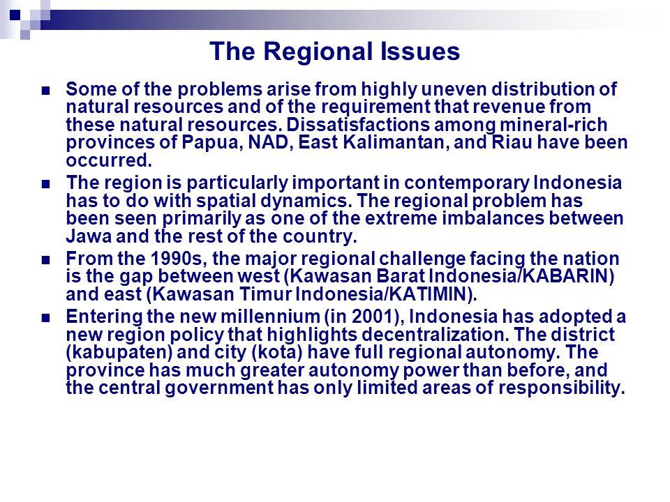 Development and income distribution gap between province and island Development and income distribution gap between province and island