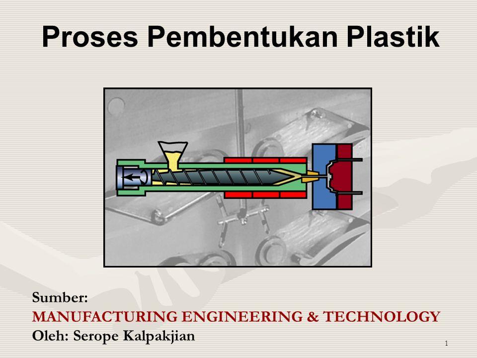 1 Proses Pembentukan Plastik Sumber: MANUFACTURING ENGINEERING & TECHNOLOGY Oleh: Serope Kalpakjian