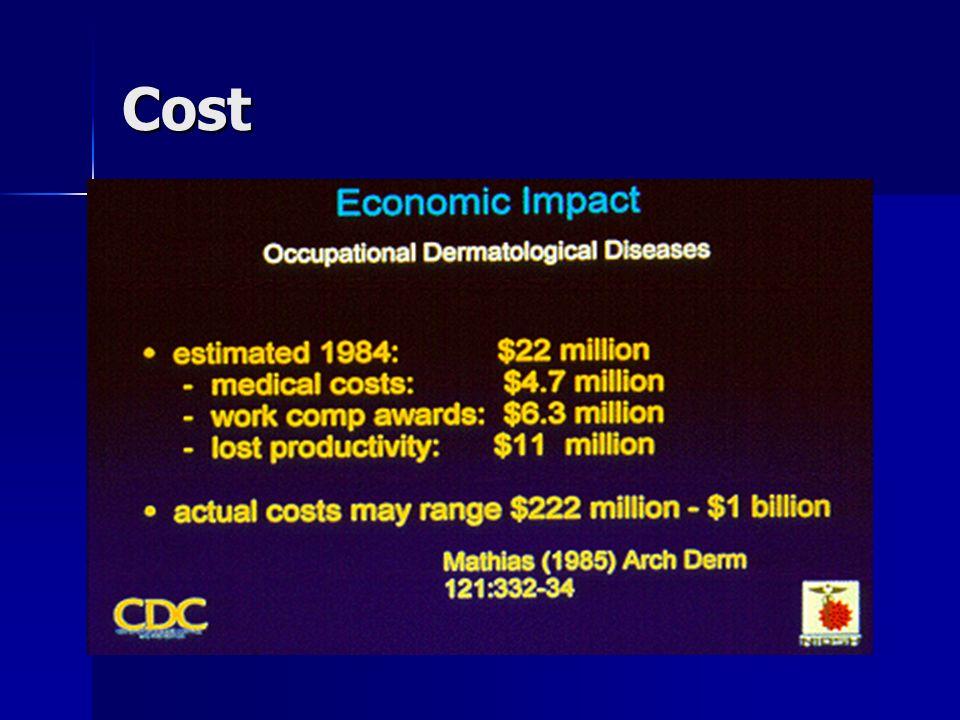 Sifat agen penyebab dermatosis : Agen fisik : tekanan, gesekan, cuaca dingin, panas, radiasi ultraviolet, serat mineral.