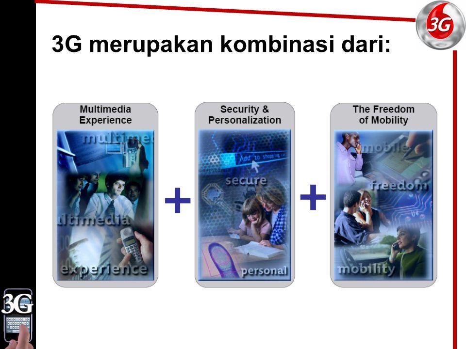 3G merupakan kombinasi dari: