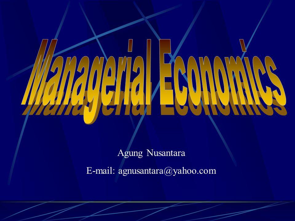 Agung Nusantara E-mail: agnusantara@yahoo.com