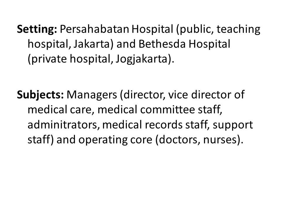Method: Pretest (O): Retrospective audit of TB clinical care conducted during 2007 in eight hospitals and pulmonology clinics in Jakarta, West Java, Yogyakarta, Central Java and East Java.