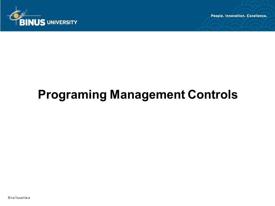 Bina Nusantara Programing Management Controls