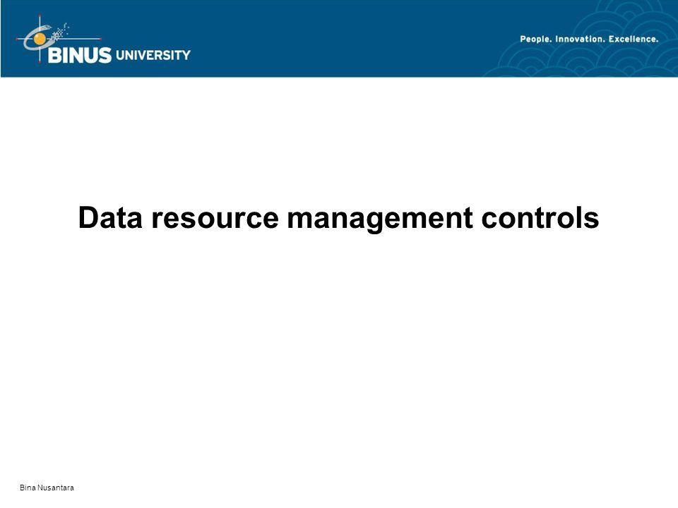 Bina Nusantara Data resource management controls
