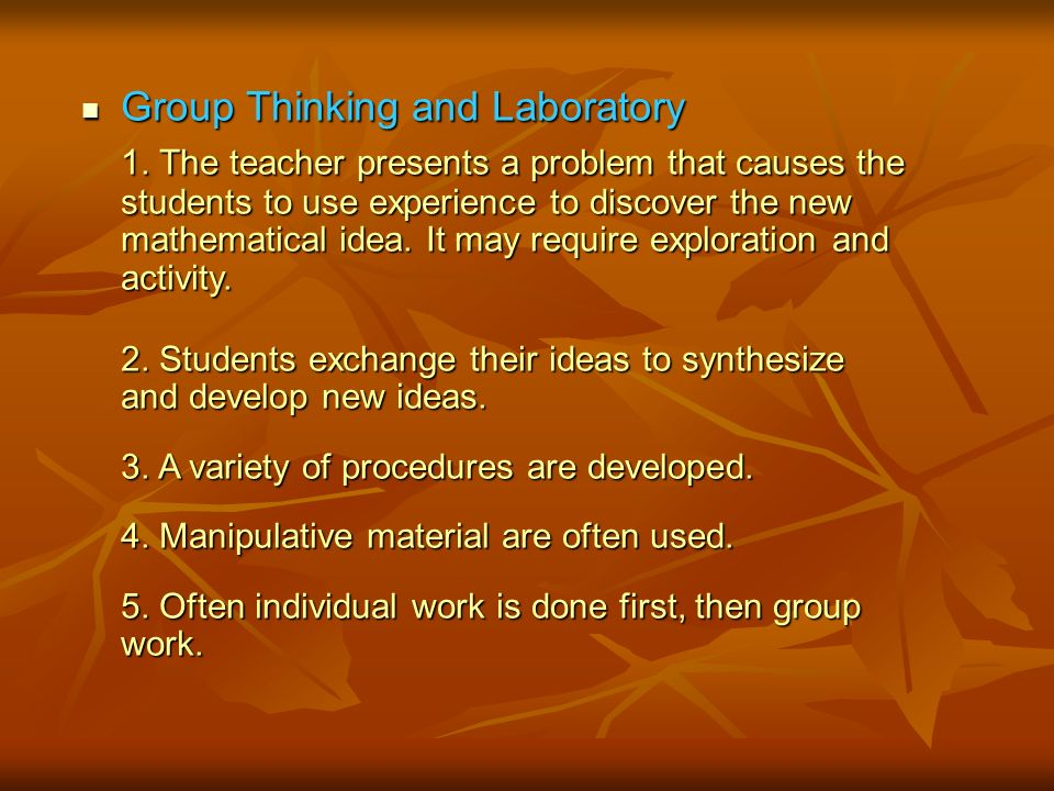Group Thinking and Laboratory Group Thinking and Laboratory 1.