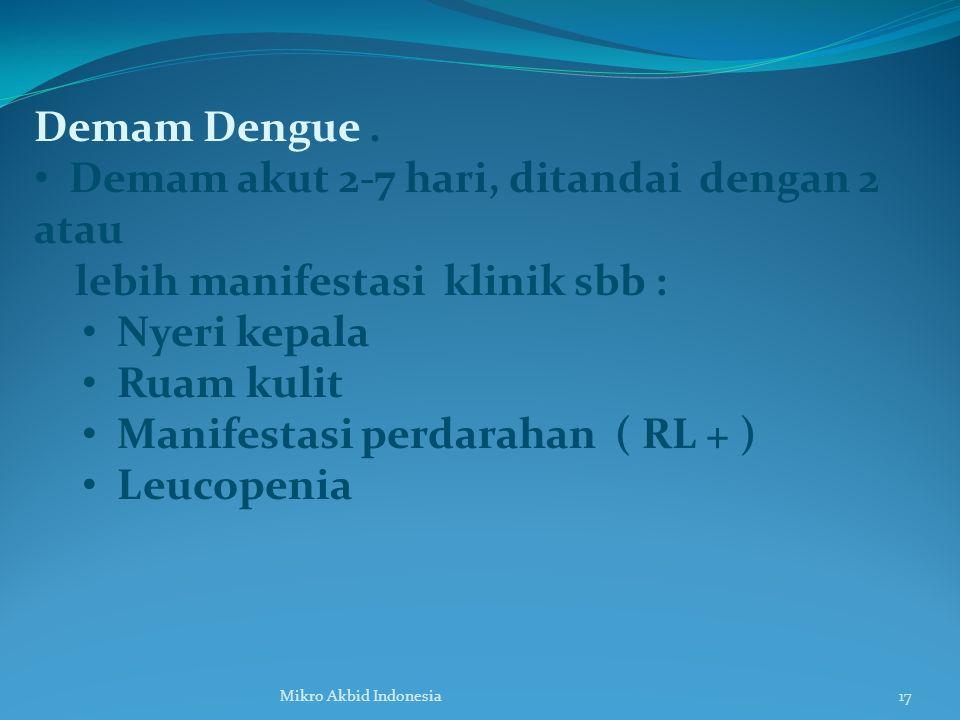 Demam Dengue.