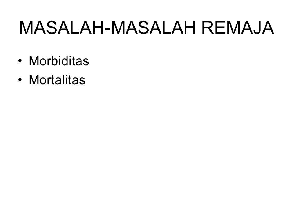 MASALAH-MASALAH REMAJA Morbiditas Mortalitas