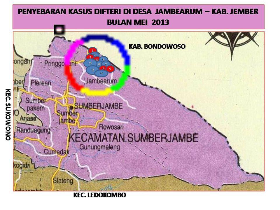 KLB DIFTERI DI DESA JAMBEARUM KEC. SUMBER JAMBE 2013