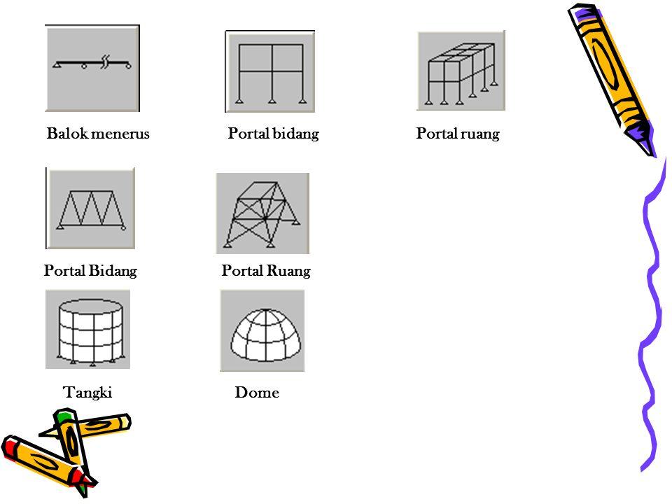 Balok menerus Portal Bidang Tangki Portal Ruang Dome Portal bidangPortal ruang