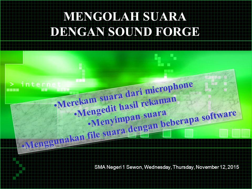 Budi Setyono, page 2 1.Merekam suara dari microphone