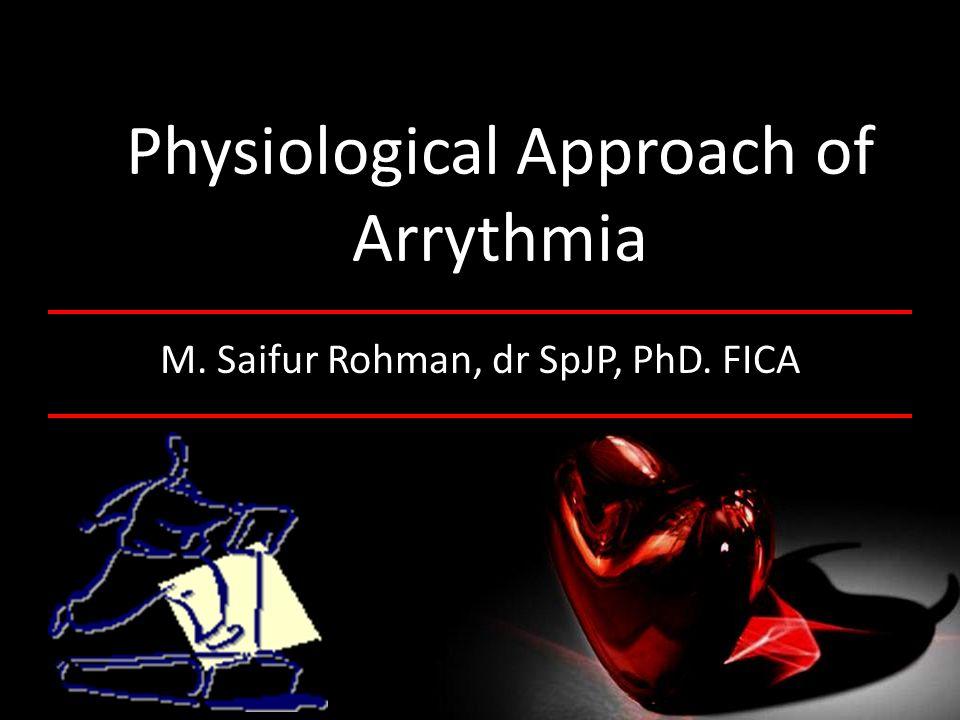 OUTLINE Membrane potential, action potential, impulse conduction, type of arrhytmias, cause of arrhytmias,