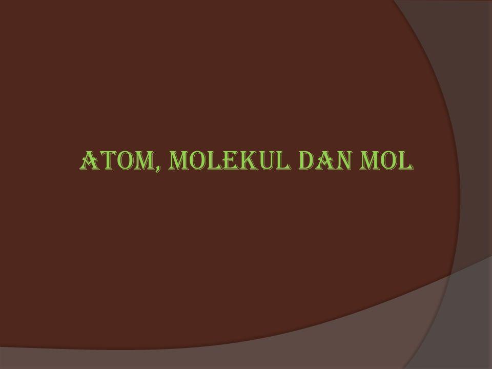 Atom, molekul dan mol