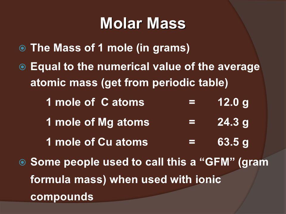 1. Number of atoms in 0.500 mole of Al a) 500 Al atoms b) 6.02 x 10 23 Al atoms c) 3.01 x 10 23 Al atoms 2.Number of moles of S in 1.8 x 10 24 S atoms