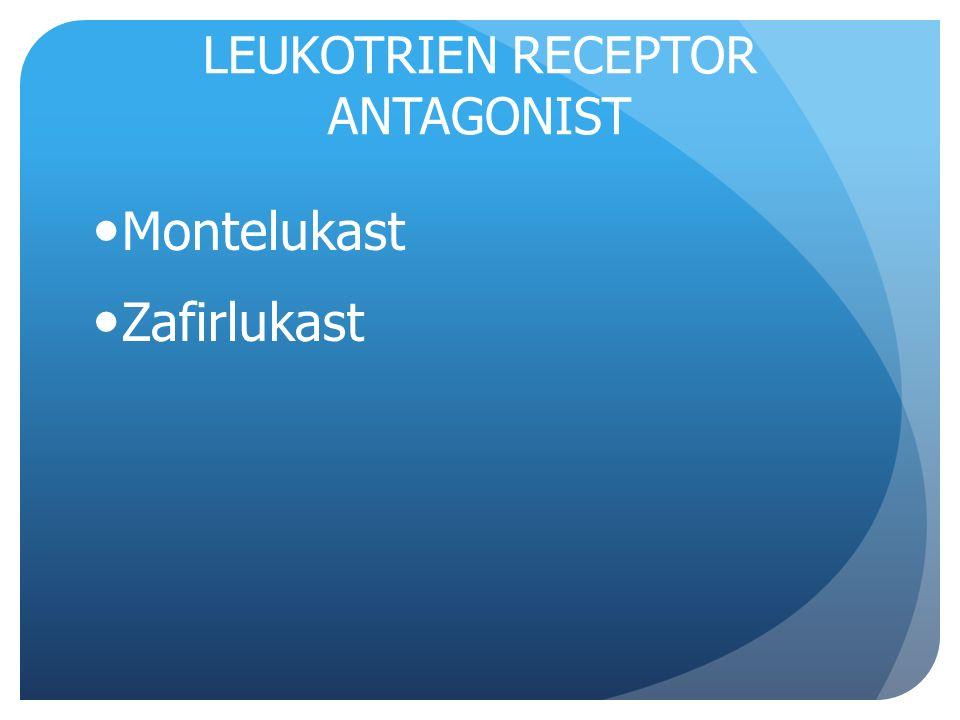 LEUKOTRIEN RECEPTOR ANTAGONIST Montelukast Zafirlukast