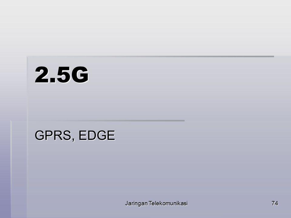 Jaringan Telekomunikasi75  Secara umum General Packet Radio Service atau GPRS adalah suatu teknologi yang memungkinkan pengiriman dan penerimaan data lebih cepat jika dibandingkan dengan penggunaan teknologi Circuit Switch Data atau CSD.
