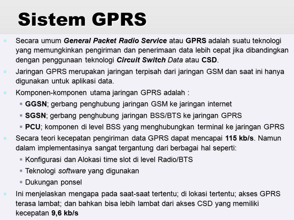 Jaringan Telekomunikasi76 Perbedaan GSM dengan GPRS