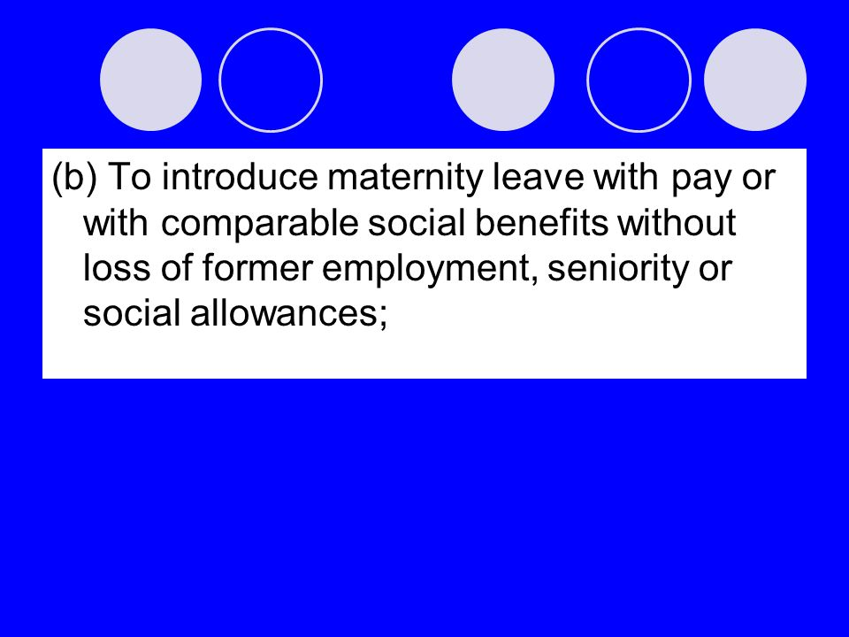 (c) To encourage the provision of the necessary supporting social services to enable parents to combine family obligations with work responsibilities and participation in public life, in particular through promoting the establishment and development of a network of child-care facilities;