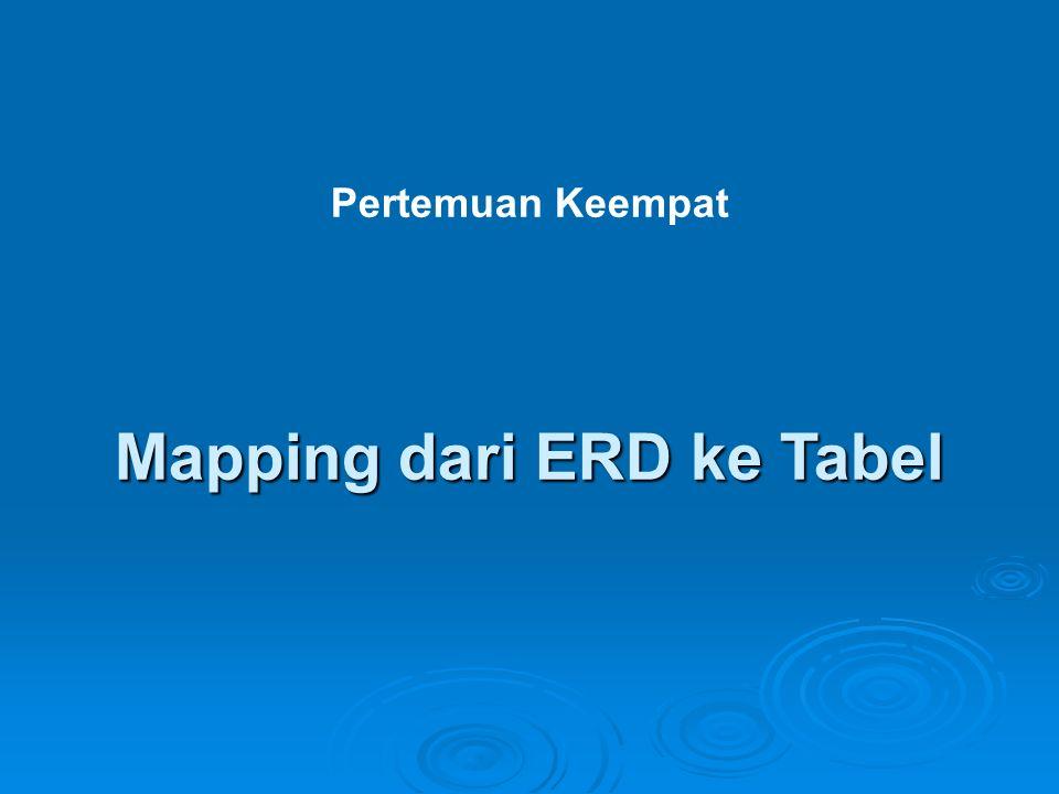 Mapping dari ERD ke Tabel Pertemuan Keempat