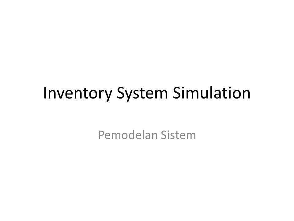 Inventory System Simulation Pemodelan Sistem