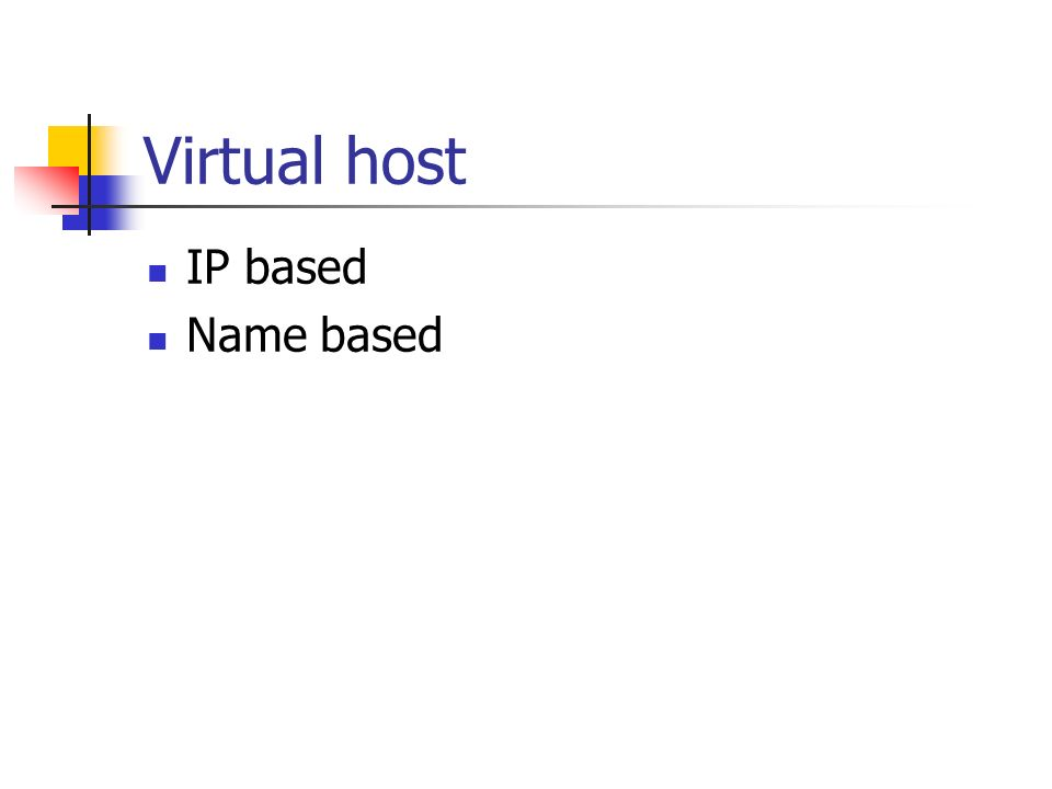 Virtual host IP based Name based