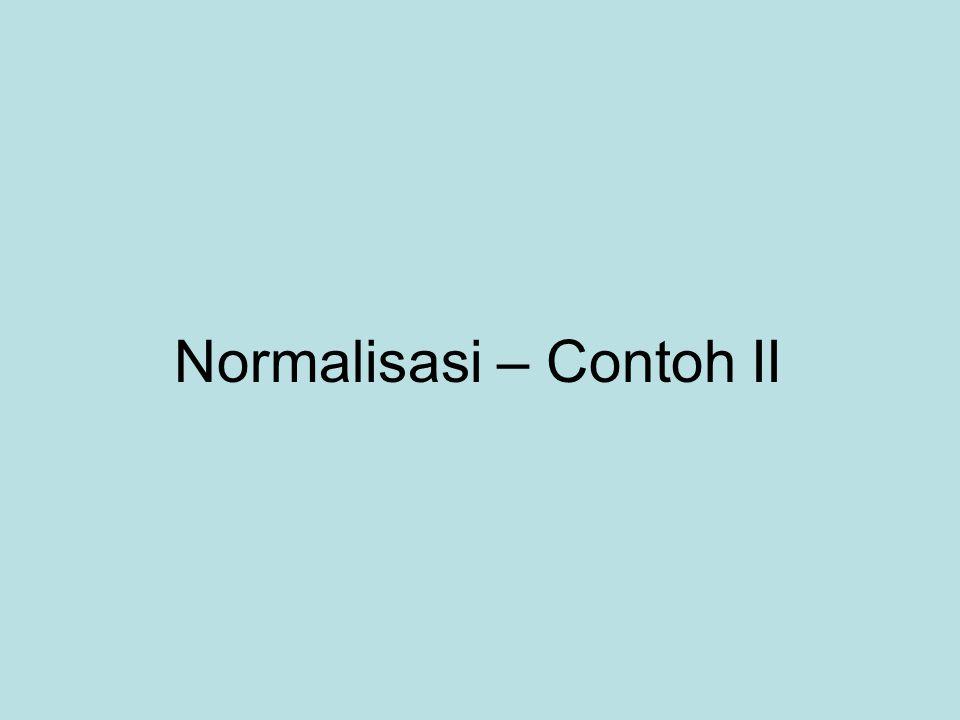 Normalisasi – Contoh II