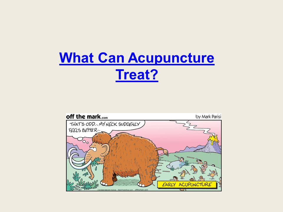 What Can Acupuncture Treat?