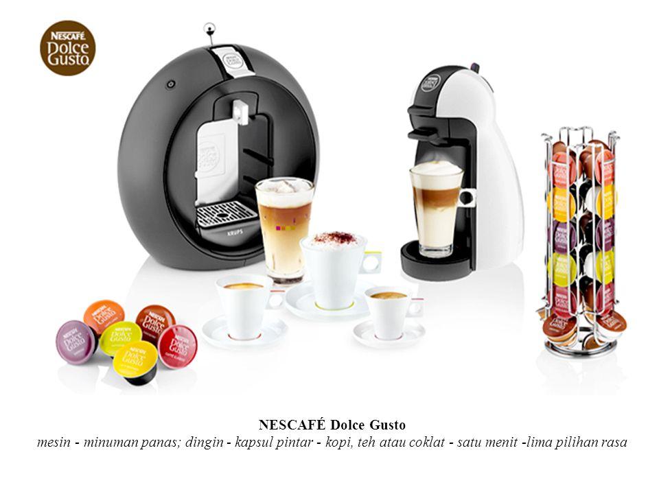 NESCAFÉ Dolce Gusto mesin - minuman panas; dingin - kapsul pintar - kopi, teh atau coklat - satu menit -lima pilihan rasa