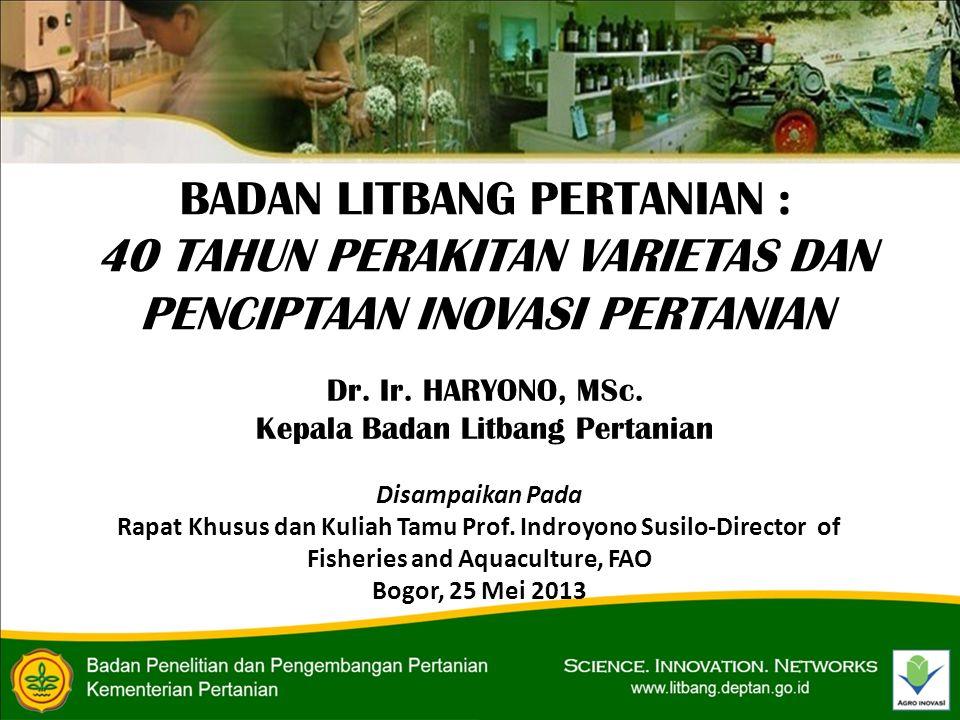 Disampaikan Pada Rapat Khusus dan Kuliah Tamu Prof.