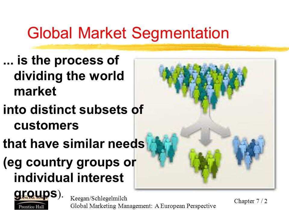 Keegan/Schlegelmilch Global Marketing Management: A European Perspective Chapter 7 / 13 Kriteria Dalam Menentukan Target Sasaran Global zBesar Segmen dan Potensi Pertumbuhan - Apakah segmen pasar yg ada mmg cukup besar??.