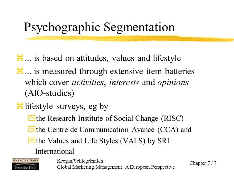 Keegan/Schlegelmilch Global Marketing Management: A European Perspective Chapter 7 / 8 Menetapkan Sasaran Global zAdalah tindakan mengevaluasi dan membandingkan kelompok yg diidentifikasi dan kemudian memilih satu atau beberapa diantaranya sebagai calon dg potensi paling besar.
