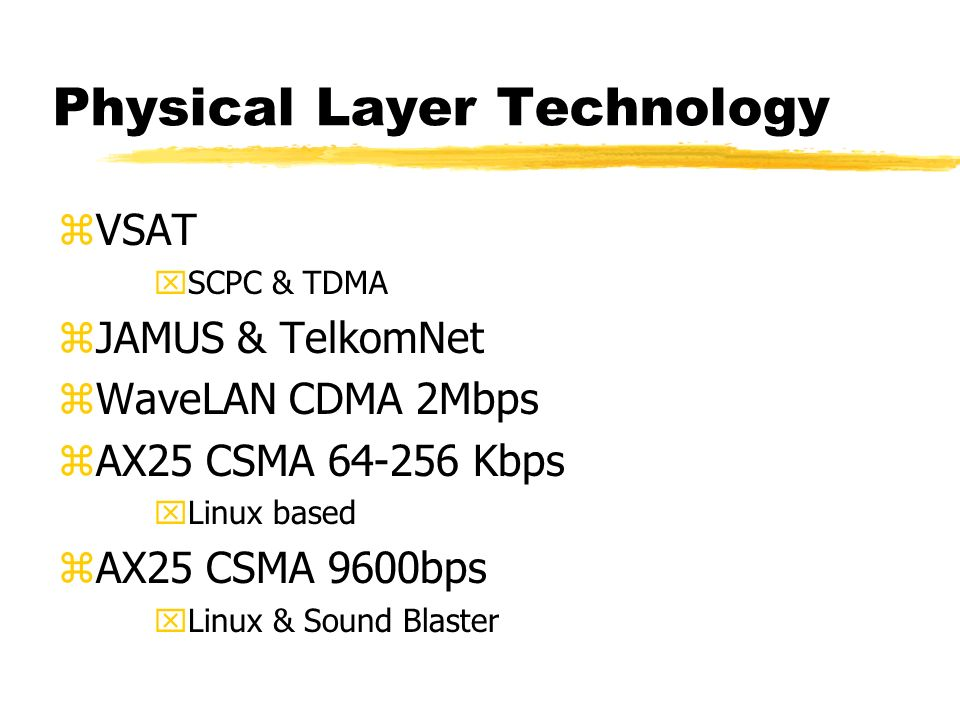 Teknologi Pendukung zPhysical Layer. zComputer Network Layer. zApplication Layer.