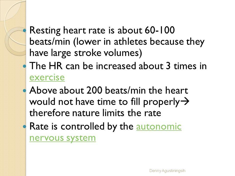 HEART RATE Normally : 60-100 bpm > 100 bpm : tachycardia < 60 bpm : bradycardia Denny Agustiningsih