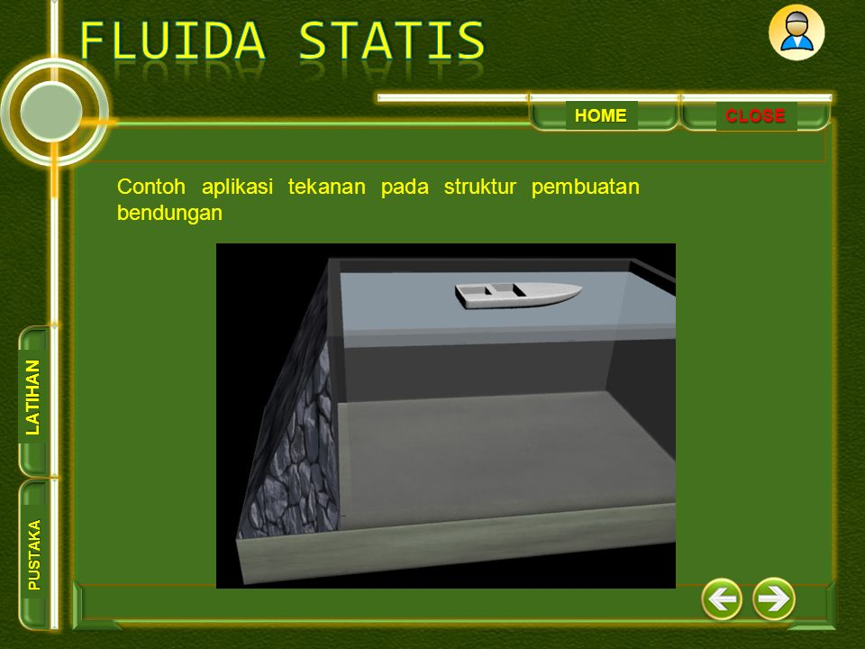 HOME PUSTAKA LATIHAN CLOSE Contoh aplikasi tekanan pada struktur pembuatan bendungan
